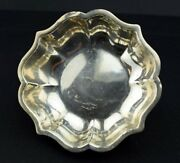 Hecho En Mexican Sterling Scalloped Ball Footed Bon Bon Candy Dish Small Bowl