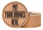 Cork Coasters For Drinks 10 Pcs Protect Furniture From Scratchesstainsspills