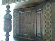 Antique English Carved Court Cupboard Cabinet Jacobean C 1890 Stunning Piece