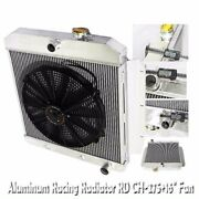 3 Core Performance Radiator+16 Fan For 55-58 Chevy-/k-series Truck/ Pickup