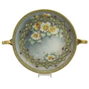 Hand-painted Nippon Dish With Jewels