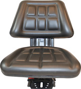 Black Trac Seats Tractor Suspension Seat Fits Ford / New Holland 2310 2810 3010
