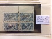 Ireland 1922 Sg66 58 10s Varieties Major Re-entry And Major Retouch Mnh Block Of 4