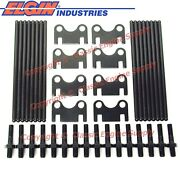 New +.100 Pushrods, Flat Guide Plates And 3/8 Rocker Arm Studs Sb Chevy 400 350