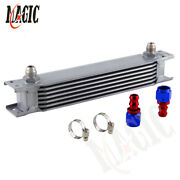 Universal 7 Row An8 Engine Oil Cooler 8an 7rows + 2pcs Push-on Hose End