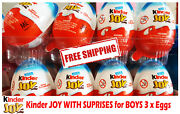 Kinder Joy With Surprise Eggs In Toy And Chocolate For Boys 3 X Eggs New Malaysia