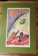 Amazing Stories Spoof Cover / Watercolor By Gay Glading/signed And Inscribed 1971