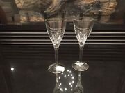 Waterford Lead Crystal - New Elberon Wine Goblet Duo For Great New Price