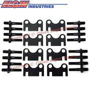 New Flat Guide Plates And 3/8 Rocker Arm Studs Sb Chevy 400 383 350 327 305 283