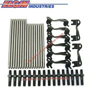 New 3/8 Pushrods Guide Plates And Rocker Arm Studs Chevy Bb 396 402 427 454