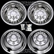 Gmc 3500 16 Dually Stainless Steel Bolt On Wheel Simulators Dual Liners Covers