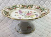 Antique Extremely Rare Schumann Bavaria  Chateau Dresden Pattern Tea Cake Stand