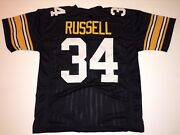 Unsigned Custom Sewn Stitched Andy Russell Black Jersey - M L Xl 2xl