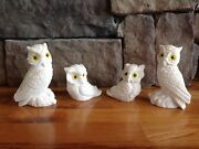 Vintage Owls Handmade In Italy 4 Pieces Gift