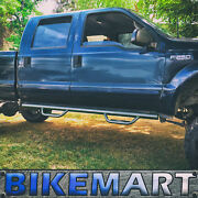 Hoop Drop Step Nurf Bar Running Boards Fit 00-15 Ford F-250 Sd Crew Cab Matte