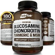 Glucosamine Chondroitin Turmeric And Msm 180 Capsules - Bones Joint Support Pills
