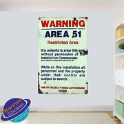 Area 51 Warning Signs Privacy Wall Stickers 3d Art Poster Mural Decal Decor Vi1