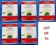 Lot Holiday Time 100 Clear Mini Lights Green Wire Christmas Holiday Home Party