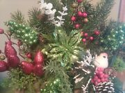Sale Christmas Centerpiece Table Decorations Red And Green Christmas Floral
