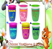 Monogram Personalized Vinyl Decal For Sippy Cups Andtumblers,toy Design And Name