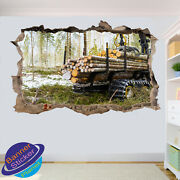 Logging Forest Wall Stickers Posters Art Decals Murals Room Office Decor Vk6