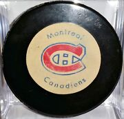 Vintage 70's Official Montreal Canadiens Rawlings Puck Made In Canada Hockey Nhl