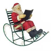 Lifesize Santa Christmas On Rocking Chair Display Feature Exhibition Prop Window