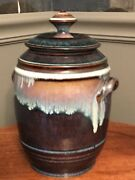 Bill Campbell Pottery Cookie Jar