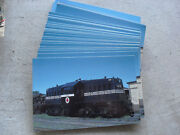 Lot Of 55 Railroad Postcards Lehigh And New England Locomotive Photo By Geary