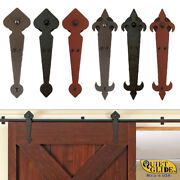 Quiet Glide Locally Made Hand-forged Hammered Rolling Barn Door Hardware Kits
