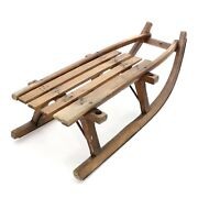 Antique 1900s Wood And Iron 33 Snow Metal Sub Runners Vintage Winter Sled Sleigh