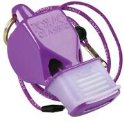 Purple Fox 40 Classic Cmg Whistle Official Coach Safety Alert Rescue W/ Lanyard