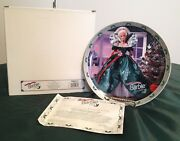 1995 Barbie Happy Holidays Collector Plate 16391 Mib With Coa