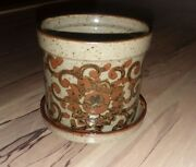 Vintage Takahashi Japan Small Flower Pot Art Pottery  Collectible
