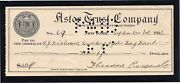 25th President, Theodore Roosevelt Autograph Signed Check, Dated Sept. 1, 1911