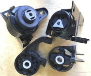 4pc Engine And Transmission Mounts For 1998-2000 Ford Contour 2.5l Fast Shipping
