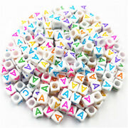 Wholesale 7mm 500-2000pcs A-zletter Acrylic Beads Diy Jewelry Accessories