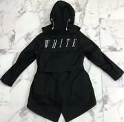 Nwt Off-white C/o Virgil Abloh Carry Over Menandrsquos Black Hooded Parka Jacket Coat