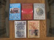 A Game Of Thrones Complete Set 1st Editions/1st Prt. Near Fine To Like New Hc/dj