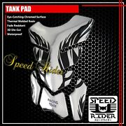 4pc Black Flame/fire Fuel Tank Pad Protector Decal 3d Gel Guard Sticker Chromed