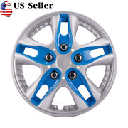 12 Inch 4pcs Car Vehicle Wheel Rim Skin Cover Hubcap Wheel Blue Cover Us Stock