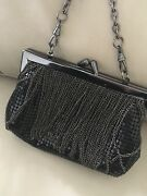 Whiting And Davis Black Evening Bag / Clutch