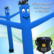 20and039 Blue Wind Dancer Air Puppet Sky Wavy Man Dancing Inflatable Tube + Blower