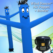 20' Blue Wind Dancer Air Puppet Sky Wavy Man Dancing Inflatable Tube + Blower
