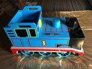 Thomas The Train Blue And Black Wooden Storage Bin Toy Chest Kid Sized Train