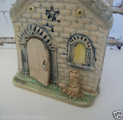 Vintage Pottery Planter Sculpture Whimsical CAT at STONE COTTAGE SIGNED FEIN 85