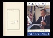 George H W Bush Autographed Signed Book All The Best Us President
