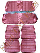 1966 Dodge Coronet Seat Covers Front Buckets Rear / Back Upholstery Metallic Red