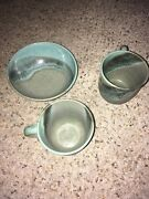 Studio Art Pottery Signed two Coffee/ Mugs and bowl