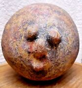 Vintage Figural Pottery ~ Pinched Face Sculpture Head -unsigned....folksy